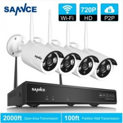 SANNCE 4CH 720P HD NVR Wireless Security System with 4X Bullet Camera I21V