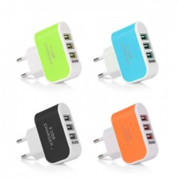 3 Inputs USB 5V 3A Travel Charger
