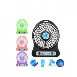 Rechargeable Mini Fan with LED Light