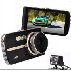 Dual Lens Car DVR Video Dash Cam