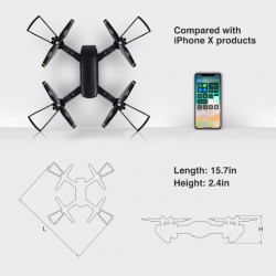 PH01 Mini Drone Rc Quadcopter with Dual 720p HD Cameras
